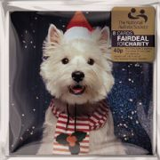 Pack of 8 The National Autistic Society Charity Christmas Cards - Christmas Westie in Santa Hat